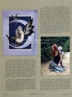 H Amy Brown και ένα σκίτσο της στο περιοδικό Faerie Magazine (Φθινόπωρο 2005)