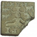 Seal with yoga position from the Indus Valley Civilization